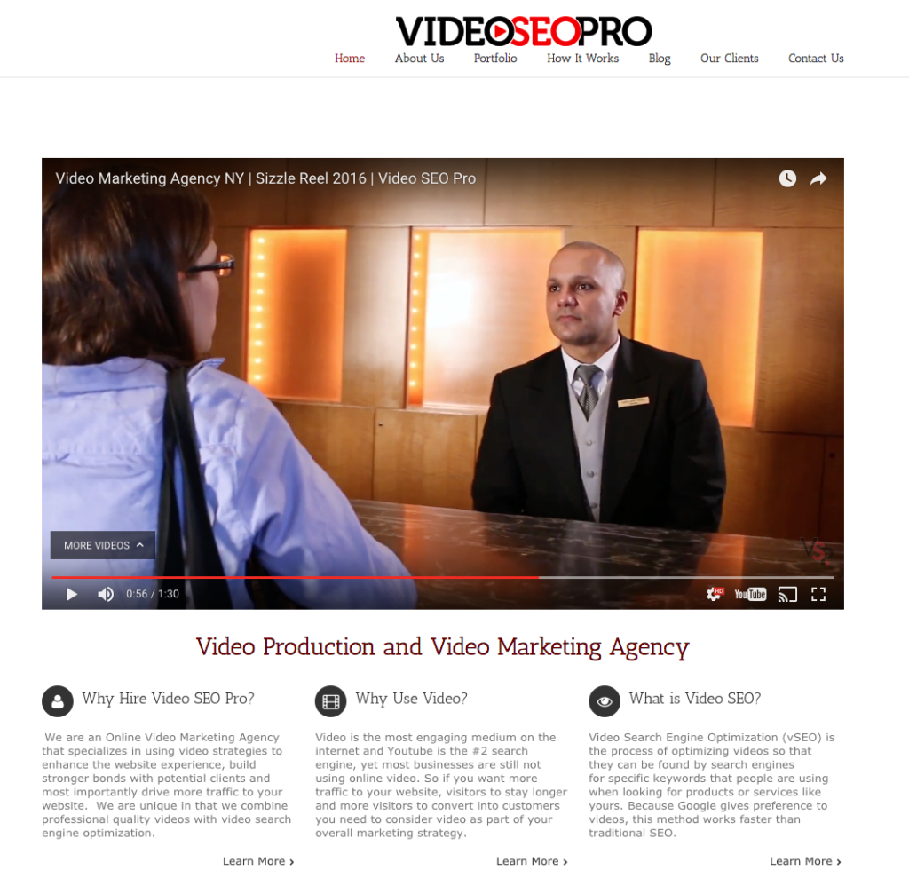 sharing your business video on your website